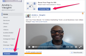 Create Ads Facebook Promote Page