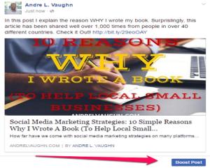 Create Ads Facebook Promote Post