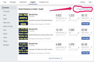 Create Facebook Ads Manager Insights-Overview Tab